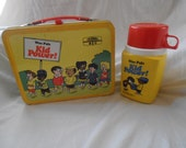 1973 Wee Pals Kid Power Metal Lunch Box with Thermos
