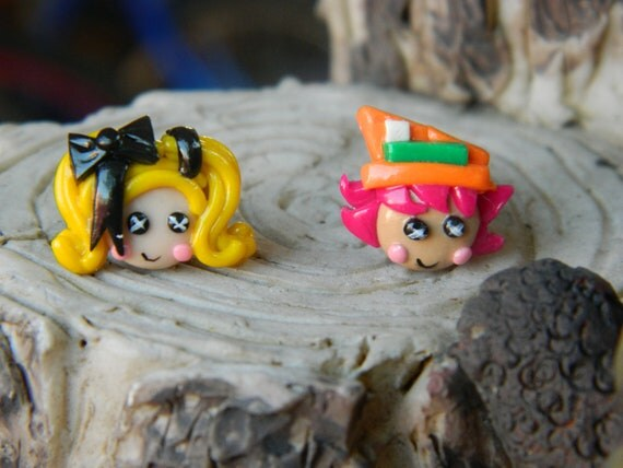 Reserved Alice and Hatter  inspired Earrings