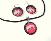 Go Buckeyes Necklace and Earring Set