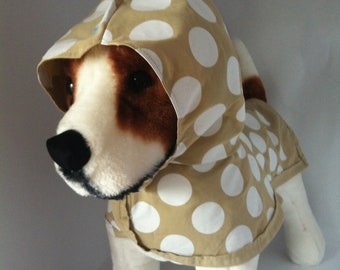 Polka dot raincoat by FiercePetFashion