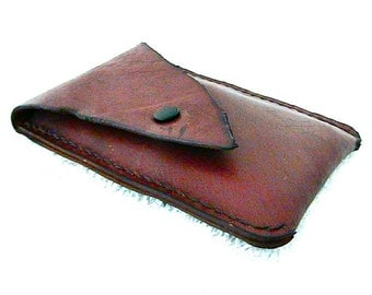 Leather smartphone case, smartphone sleeve, cell phone case
