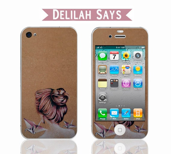 Adhesive Vinyl Phone skin with Original Artwork