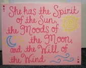 Hand-painted Canvas with Quotation