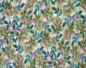 Natures Christmas by Hoffman C953 Holly Cotton Print Fabric