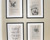 Harry Potter Prisoner of Azkaban (Book 3) - Upcycled book page art prints - Home decor - Great for framing