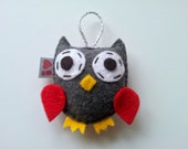 Owl Ornament, MADE TO ORDER, Eco Friendly Felt
