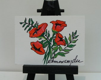 Poppy Tyme 2 - ACEO original painting
