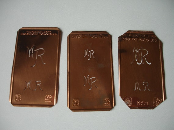 3 Monogram Stencils mr / rm