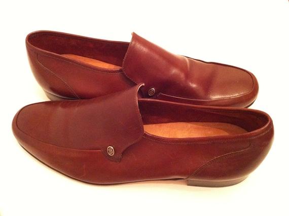 Bill Blass Men's Vintage Brown Leather Shoes size 9.5