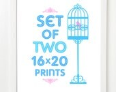Set of 2 (TWO) 16x20 - Pick Your Prints and Colors - 16x20