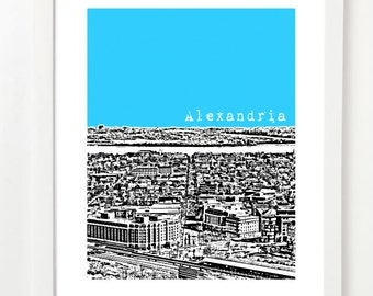 Alexandria, Virginia Skyline Poster - Alexdandria City Skyline Series Art Print - Alexandria VA Art