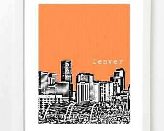 Denver Skyline - Denver City Art - Denver Poster - VERSION 1