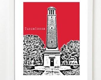 Tuscaloosa Alabama City Skyline Series Poster - Tuscaloosa Art Print - Tuscaloosa Gift