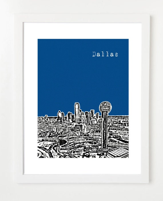 Dallas Texas  - City Skyline Series Poster - The Original City Skyline Series - Dallas Love - VERSION 2