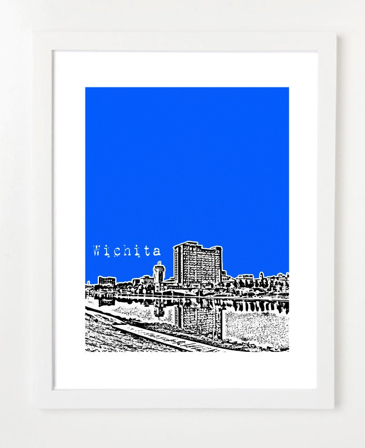 Wichita skyline poster kansas state art city skyline for Craft stores wichita ks