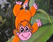 Monkey with big smile stock illustration. Illustration of ... |Monkey Big Smile