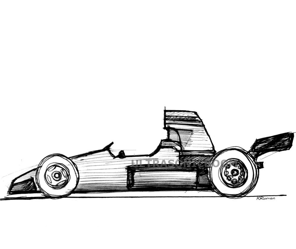 Race Car Drawing Side View   Wallpapers Gallery