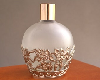 Vintage Glass Metal Perfume Bottle