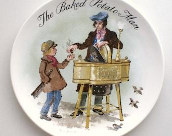 1985 WEDGWOOD  Bone China Decorative Plate The Baked Potato Man by John Finnie London