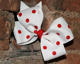 Red Polka Dots Bow
