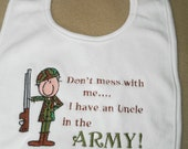 Army Baby Bib - Uncle In The Army
