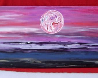 Sonata - Original Acrylic Painting - Landscape Canvas - 24 x 48