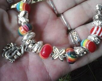 Rainbow Dragon, Euro style bracelet