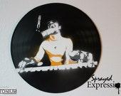 Stevie Wonder Vinyl Record Painting
