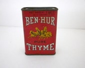 Vintage Ben Hur Pure Thyme Spice Can