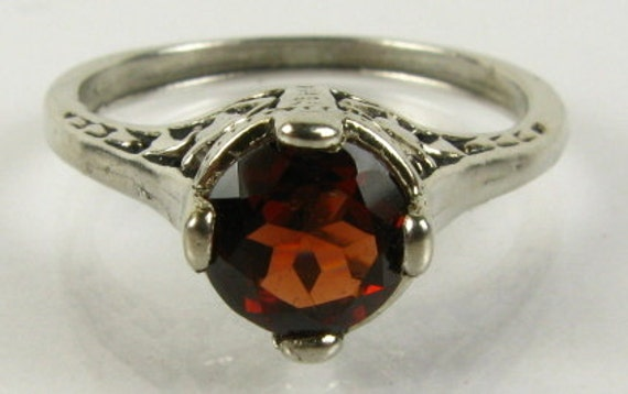Victorian Garnet and Silver Ring