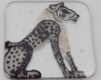 Egyptian lion coasters