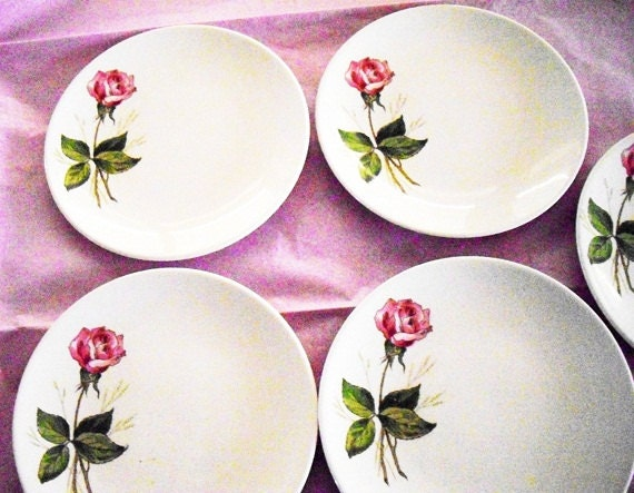 Knowles China Tea Rose Plates