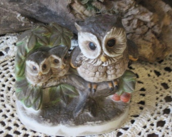Owls from Homco Cute Mommy and Babies :) S  On Sale CLEARINGOUT25