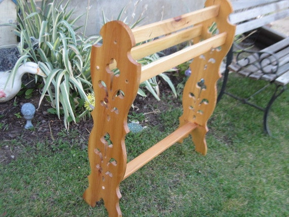 RESERVED Ornate  Quilt Display Rack  Pine Wood