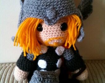 Thor Avengers Crochet Amigurumi Doll