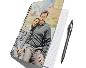 Parks and Recreation Notebook UpCycled Journal Ron Swanson Tom Haverford