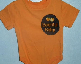 Baby Halloween embroidered onsie