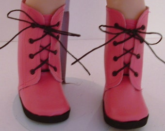 Pink Lace Boots