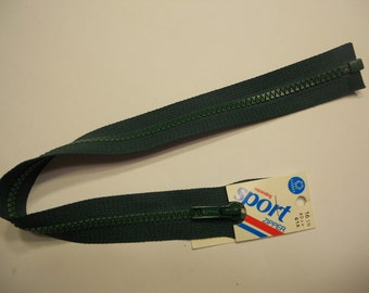 hunter green 16 inch separating zippers (R6)