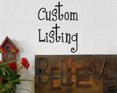 Custom Listing for Jodi