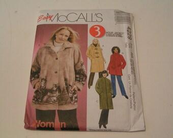 McCalls Pattern 4229 Women Unlined Jacket in two Lengths Scarf