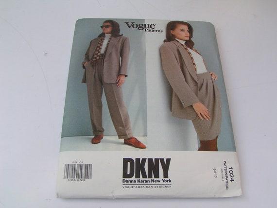 Vintage Vogue Pattern 1024 American DKNY Donna Karan New York Misses Jacket Skirt Pants