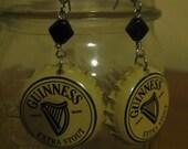 Guinness Bottle Cap Earrings