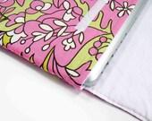 13 inch MacBook Amy Butler Pink Floral Print Laptop Top Sleeve