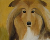 "8""X8"" personalized, custom pet portrait, acrylic painting, linen stretched canvas"