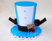 Tiny Top Hat: Alice In Wonderland - Lolita Cosplay Costume Party Fascinator Photo Photography Prop Wedding Tophat Small Miniature little
