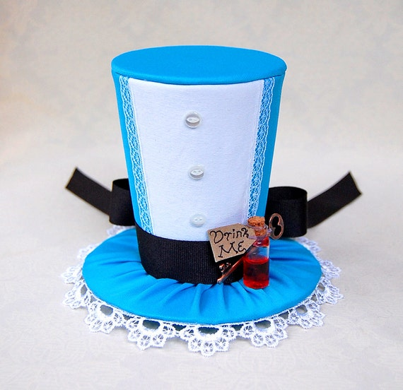 Tiny top hat alice in wonderland lolita cosplay costume for Tiny top hats for crafts
