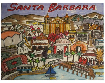Santa Barbara Map-Print