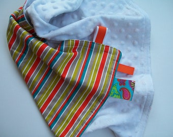 Multi-Colored Stripe Baby Neutral Security Blanket
