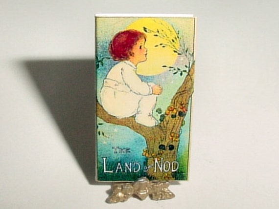 Dollhouse Miniature LAND of NOD Fairy Book - Margaret Evans Price  - Dollhouse One Inch 1/12 Scale Childrens Fairies Book, Nursery Accessory